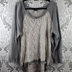 Torrid Lace front sweatshirt